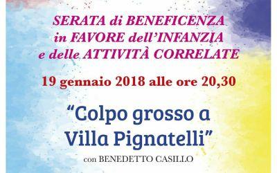 SERATA DI BENEFICENZA 19 GENNAIO 2018